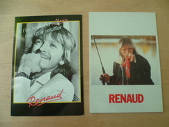 LOT 2 CARTES  CHANTEUR  RENAUD - Chanteurs & Musiciens