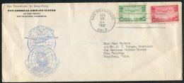 1937 USA San Francisco PAN AM First Flight Cover - Hong Kong. F.A.M. No 14 - Air Mail