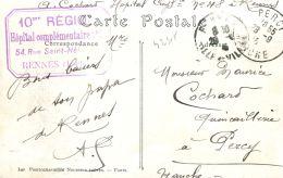 N°42315 -cpa Cachet 10è Région -hôpital Complémentaire Rennes- - Guerra Del 1914-18