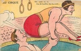 FANTAISIE 208  CPA Original     Couple Cirque - Humour