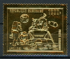 Gabun Goldmarke MiNr. 346 Postfrisch/ MNH Raumfahrt Apollo 11 (RF227