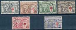 NB- N° 394/399 (sans Le 5F), Antituberculeux, 'Chevaliers', Dont Avec Croix De Lorraine Déplacée
