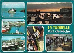 CPM/CPSM -   LA TURBALLE -  Le Port De Pêche Et La Criée - Multivues - La Turballe