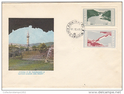 2352- IRON GATES WATER POWER PLANT, ADA KALEH ISLAND, SPECIAL COVER, 1968, JOIN ISSUE ROMANIA- YOUGOSLAVIA