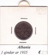 ALBANIA   1 QINDAR-AR  1935 - Albanie