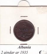 ALBANIA   2 QINDAR-AR  1935 - Albanie