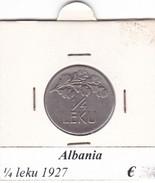 ALBANIA   1/4 LEKU  1927 COME DA FOTO - Albania