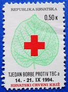 CROATIA CHARITY MNH STAMP 0,50 Kn.1994 RED CROSS TBC TUBERCULOSIS - Croatie
