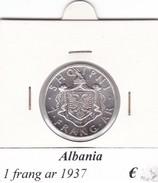 ALBANIA   1  FRANG-AR  1937 COME DA FOTO - Albania