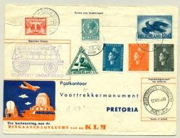 Nederland - 1938 - KLM Dingaansvlucht Naar Pretoria / South Africa En Terug Naar Vlaardingen