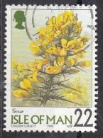 799 Isola Di Man 1999 Fiori Flowers Gorse Ginestra Viaggiato Used