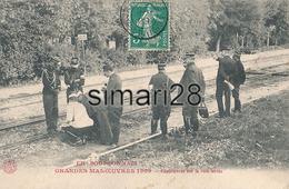 EN BOURBONNAIS - GRANDES MANOEUVRES 1909 - EXPERIENCES SUR LA VOIE FERREE (AVEC CACHET POSTE MILITAIRE)