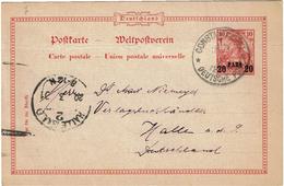 LBR38 - LEVANT ALLEMAND GERMANIA SURCHARGE TYPE II CIRCULEE