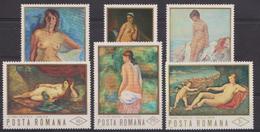 Art, Peinture, Nus Féminins - ROUMANIE - Odalisque De Delacroix, Nu Dans Un Paysage De Renoir - N° 2620 à 2625 ** -1971 - 1948-.... Républiques