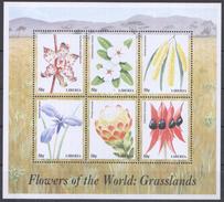 A110 LIBERIA FLOWERS OF THE WORLD GRASSLANDS 1KB MNH
