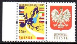 Pologne Poland Polska 3856 Europe , Aigle , Drapeau