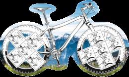 """Schweiz 2017: Spezial-Bogen Mit 2 Werten (limitiert) """"200 Jahre Fahrrad"""" GROSSFORMAT (CHF 5 Porto)"""