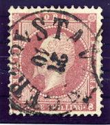NORWAY 1856 King Oskar 8 Sk. Used.  Michel 5