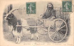 """22 - COTES D'ARMOR / Dinan - Attelage De Chèvre - Mendiant Dit """"l Homme Au Bouc """" - Défaut - Superbe ! - Dinan"""