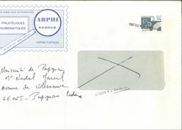 """Préo 196 Sur Lettre Avec Mention """"retour à L'envoyeur"""" + Cachet à Date Verso 28/10/1987"""