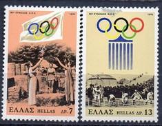 PIA - GRECIA. - 1978 : 80° Sessione Del Comitato Olimpico Internazionale  -   (Yv 1292-93)