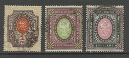 RUSSLAND RUSSIA 1910/19 Michel 77 - 78 & 80 O - 1917-1923 Republic & Soviet Republic