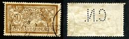 Merson N° 120 Perforé/Perfins CN 297 Indice 3 - Francia