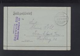 Dt. Reich Feldpost 323 Sägewerk 519