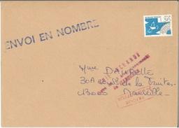 """Préo 198 Sur Lettre Avec Mention Rouge """"retour à L'envoyeur"""" + Cachet à Date Verso 02/06/1988 + Griffe Spéciale RARE"""