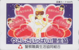 Carte Prépayée Japon - Sport - TIR A L´ARC - Ange Coeur - ARCHERY Japan Prepaid Tosho Card Girl - BOGENSCHIESSEN - 206 - Sport