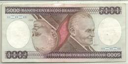 BILLETE DE 5000 REALES - Brasil