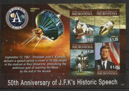 MICRONESIA - MNH - Space - Apollo - NASA - Kennedy