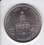 MONEDA DE CUBA DE 1 PESO DEL AÑO 1992 DE LA TORRE DEL ORO DE SEVILLA - AÑO DE ESPAÑA (COIN) SIN CIRCULAR-UNCIRCULATED
