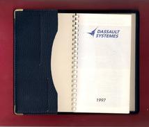Agenda De Poche Vierge DASSAULT SYSTEMES 1997. - Libros, Revistas, Cómics