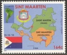 Sint Maarten 2010, Flag, Arm Of The Island, 1val