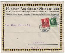 1916, Netter Werbeumschlag MÜNCHENER ABENDZEITUNG