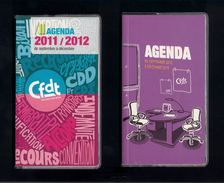 2 Agenda De Poche Vierge De La CFDT. - Agende Non Usate
