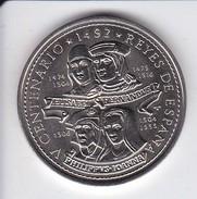 MONEDA DE CUBA DE 1 PESO DEL AÑO 1992 DEL V CENTENARIO - REYES DE ESPAÑA (COIN) SIN CIRCULAR-UNCIRCULATED