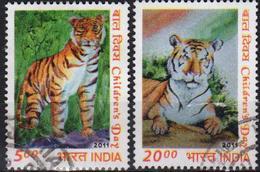 India 2011 2 V  Tiger Tigers - Felinos