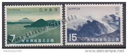 Japan - Japon 1971 Yvert 1031-32, National Park Of Shikotsu Toya - MNH - 1926-89 Emperador Hirohito (Era Showa)