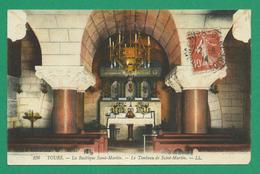 CPA I&LOIRE 11 /185 - TOURS, La Basilique Saint-Martin, Le Tombeau De Saint-Martin