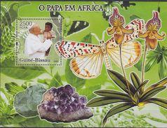 Guinée 2005 Mineral Minéraux Panthère Pope Pape Jean Paul II Butterflies Orchid