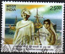 India 2015 1 V   Used 100 Years Of Mahatma Gandhi's Return Famous People