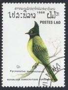Black-capped Bulbul Pycnonotus Melanicterus Used Stamp - Songbirds & Tree Dwellers