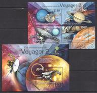 A125 2012 BURUNDI SPACE VOYAGER 2 1KB+1BL MNH