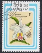 Cattleya Lueddemanniana Orchid Used Stamp
