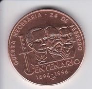 MONEDA DE CUBA DE 1 PESO DEL AÑO 1995 DEL CENTENARIO DE LA GUERRA NECESARIA (COIN) SIN CIRCULAR-UNCIRCULATED - Cuba
