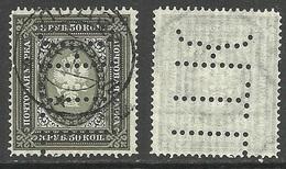RUSSLAND RUSSIA 1902 Michel 55 Y Poland LODŽ Perfin