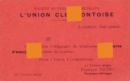 Clermont Vers 1920 Union Clermontoise Société Mutuelle De Retraite / Trésorier :  Fernand Detry à Thimister - Thimister-Clermont