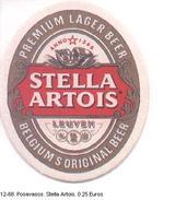 Posavasos. Cervezas Stella Artois. (ref. 12-68) - Otras Colecciones